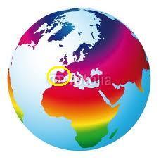 Mapa mundo Dia da Alegria!